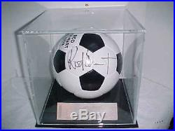 Rod Stewart Autographed Soccer Ball And Ticket