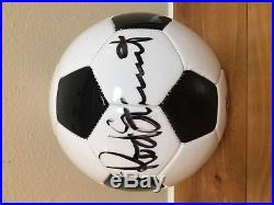 Rod Stewart Autographed Soccer Ball Mardi Gras 2018 Endymion Extravaganza. Mint