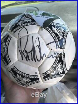 Rod Stewart Autographed Soccer Ball With Attached Backstage pass