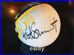 Rod Stewart Autographed Soccer Ball from Las Vegas show 2015. Mint condition