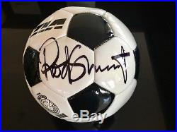 Rod Stewart Autographed Soccer Ball from Las Vegas show 2016. Mint condition