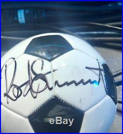 Rod Stewart Autographed Soccer Ball from Las Vegas show 2018. Great condition