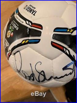 Rod Stewart Signed Autographed Soccer Ball
