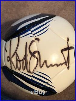 Rod Stewart Signed Soccer Ball