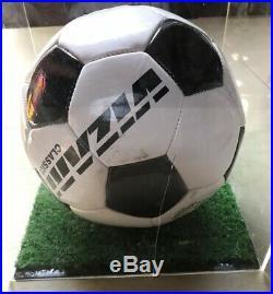 Rod Stewart Soccer Ball Football Signed/w Case