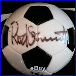 Rod stewart Signed Soccer Ball Football