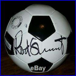 Rod stuart autographed soccer ball
