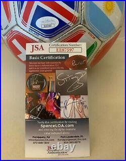 Roman Torres Seattle Sounders signed 2018 World Cup F/S Soccer Ball Panama JSA