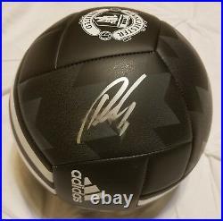 Romelu Lukaku Belgium/Man U Legend Signed Man U Ball Autograph Smudged JSA CERT