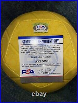 Ronaldihno Signed Official Brazil Soccer Ball Barcelona PSA/DNA