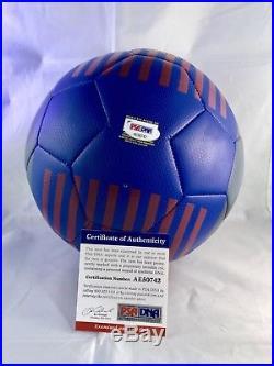 Ronaldinho Gaúcho Hand Signed BARCA Soccer Ball Brazil Futbol PSA DNA CERT