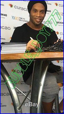 Ronaldinho Gaucho Signed Nike Brazil Soccer Cleat Size 12 Exact Proof Barcelona