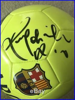 Ronaldinho Gaúcho Signed PSA DNA Autographed NIKE Barcelona Soccer Ball FCB