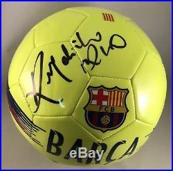 Ronaldinho Gaucho Signed Soccer Ball FC Barcelona Barca Brasil COA