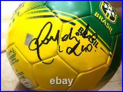 Ronaldinho Hand Signed Brazil Soccer Ball PSA DNA CERT