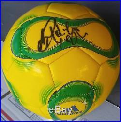 Ronaldinho Signed Adidas Soccer Ball Brazil Jersey World Cup Fifa Uefa Barcelona