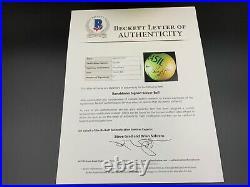 Ronaldinho Signed Brazil National Team Soccer Ball Beckett LOA A07451 PSA/DNA