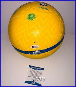 Ronaldinho Signed Brazil Soccer Ball autographed brasil Beckett BAS COA