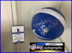 Ronaldinho Signed Soccer Ball Brazil Beckett Coa Bas Coa 1