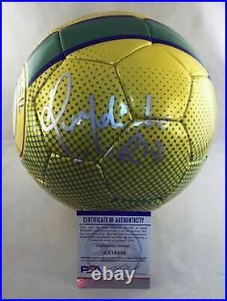 Ronaldinho Signed Soccer Ball FC Brasil Barcelona Barca PSA/DNA 3 COA