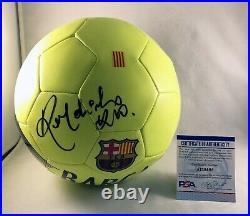Ronaldinho Signed Soccer Ball FC Brasil Barcelona Barca PSA/DNA 4 COA