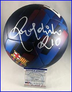 Ronaldinho Signed Soccer Ball FC Brasil Barcelona Barca PSA/DNA COA