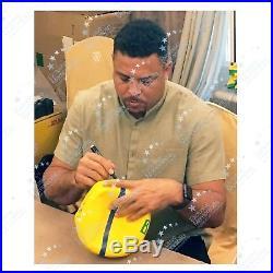 Ronaldo de Lima Signed Brazil Football Autographed Soccer Ball