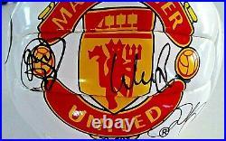 SIGNED Manchester United Soccer Ball 2000/2001 Season Beckham Giggs Scholes +