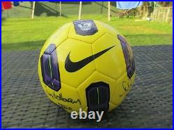SIGNED Nike T90 Tracer Premier League 2010/11 Winter Match Ball Replica