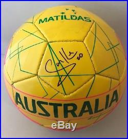 Samantha Sam Kerr Red Stars signed Australia Matildas Size 5 Soccer Ball