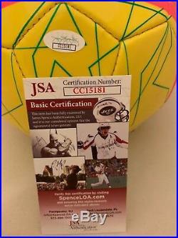 Samantha Sam Kerr Red Stars signed Australia Matildas Size 5 Soccer Ball JSA