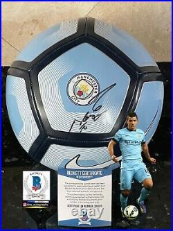 Sergio Aguero Signed Ball Manchester City Signed Ball Bas Coa