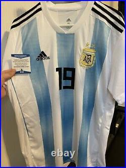 Sergio Kun Aguero Signed Argentina Adidas Jersey Auto Beckett COA BAS Barca