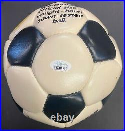 Signed Rod Stewart Skydome 1st Concert Used Autographed Soccer Ball + Ticket JSA
