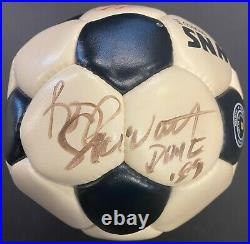 Signed Rod Stewart Skydome First Concert Used Browns Soccer Ball Autographed JSA