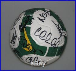 Socceroos 2010 Team Hand Signed Soccer Ball CAHILL, KEWELL, NEILL, SCHWARZER, PIM