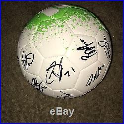 Sporting Kansas City MLS Team Autographed Adidas Soccer Ball 2017