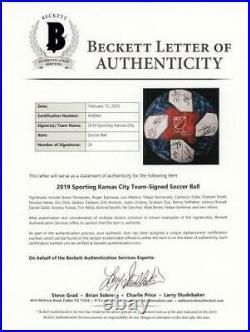 Sporting Kansas City Signed MU Soccer Ball 2019 Season with 24 Sigs Fanatics