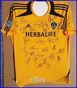 Steven Gerrard Keane Gio Dos Santos 2015 La Galaxy Team Signed Adidas Jersey Mls