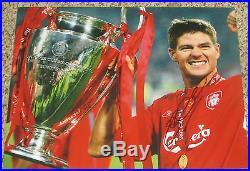 Steven Gerrard Signed 11x14 Photo Liverpool LA Galaxy with proof