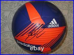 Steven Gerrard Signed Adidas Predator Soccer Ball Dc/coa Proof Rare (football)