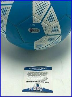 Steven Gerrard Signed Blue Nike Pitch Soccer Ball Galaxy Beckett BAS B55750