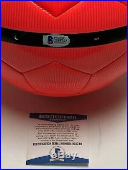 Steven Gerrard Signed Blue Nike Soccer Ball LA Galaxy Beckett BAS B55748