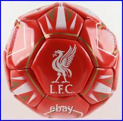 Steven Gerrard Signed Liverpool F. C. Logo Soccer Ball (Beckett COA)