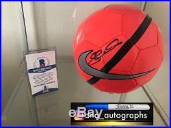 Steven Gerrard Signed Soccer Ball Liverpool Beckett Coa Bas Coa 3