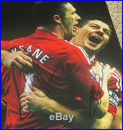 Steven Gerrard and Robbie Keane Signed 11x14 Photo Liverpool LA Galaxy proof