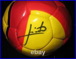 Sydney FC Juninho Paulista signed YellowithRed A-League Football + COA