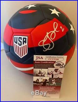 Sydney Leroux USA Womens Soccer signed Nike Team USA Prestige Soccer Ball JSA