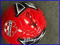 Team Canada Alphonso Davies Autographed Signed Size 5 Soccer Ball COA