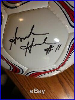 Team U. S. A. 2015 Womans World Cup signed soccer ball Kristine Lilly + others